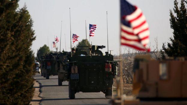 Menbic yakınlarındaki ABD ordu konvoyu