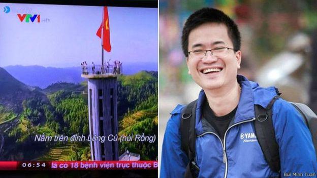 Trang Youtube của VTV cũng bị đóng cửa vì vi phạm bản quyền do sử dụng clip của một nhà làm phim tự do Bùi Minh Tuấn (phải) hồi 2016