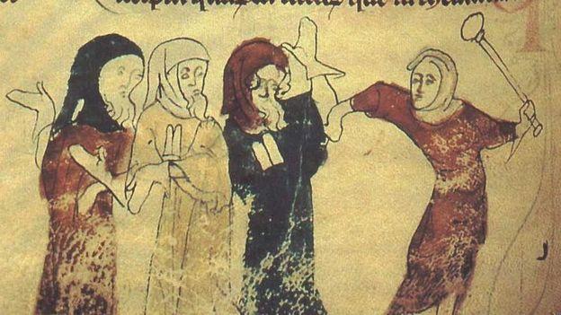 Manuscript illustration showing Jews