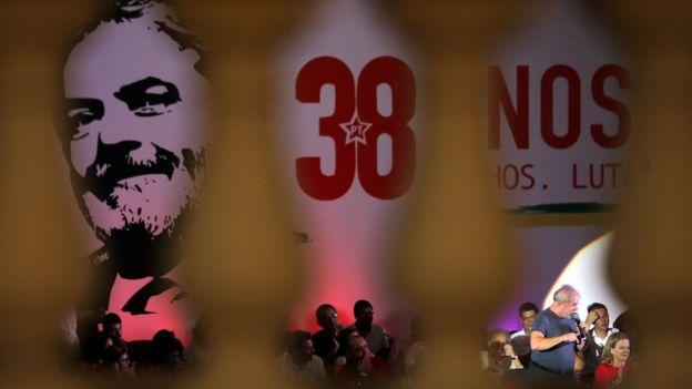 Lula fala em evento de comemoração pelo aniversário do PT