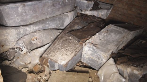 Coffins found in the crypt