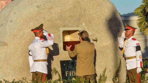 La tumba de Fidel.