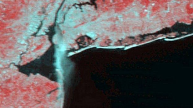 Foto del satélite Terra