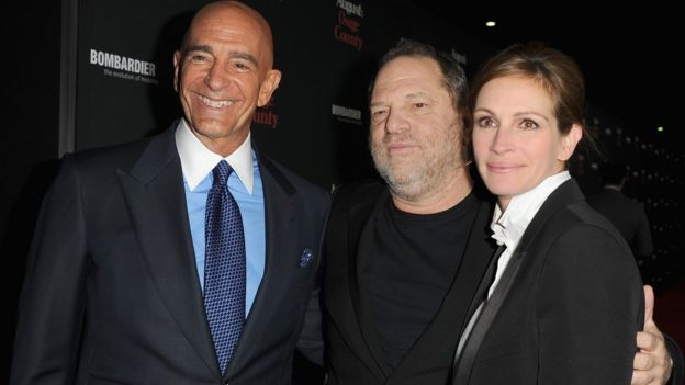 Thomas J Barrack Jr with Harvey Weinstein and Julia Roberts