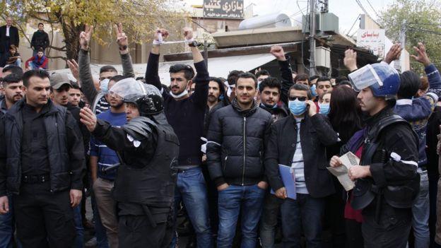 Süleymaniye'de göstericiler