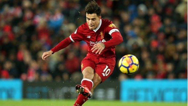 Philippe Coutinho in action for Liverpool