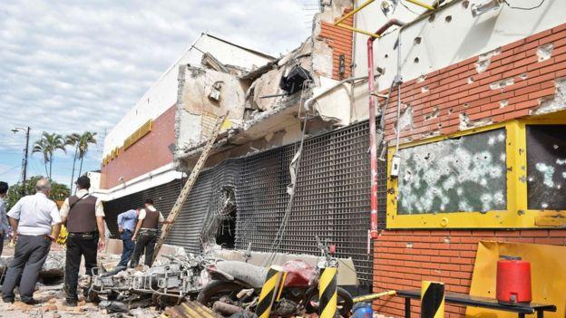 Edificio de Prosegur después del ataque