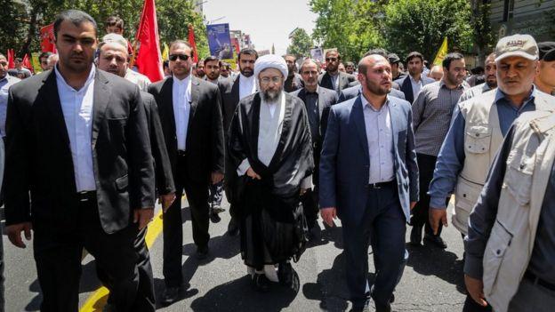 صادق لاریجانی در راهپیمایی روز قدس
