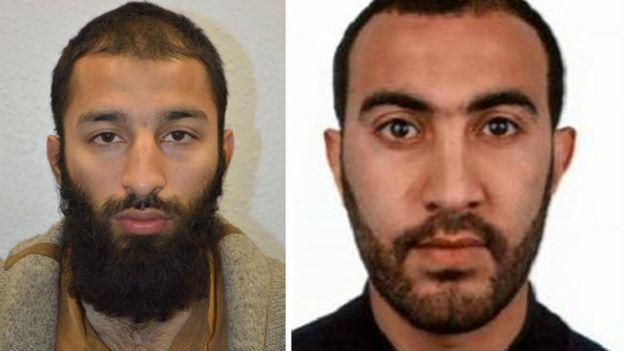 Los atacantes Khuram Shazad Butt (izquierda) y Rachid Redouane (derecha).