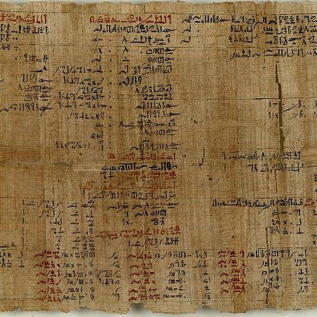 Porción del papir de Ahmes