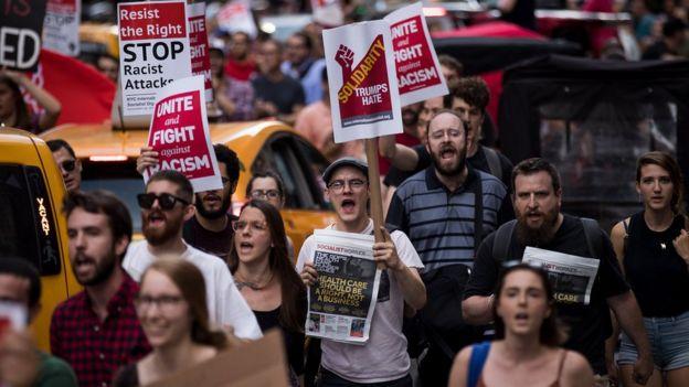 ABD'de ırkçılık karşıtı gösteri