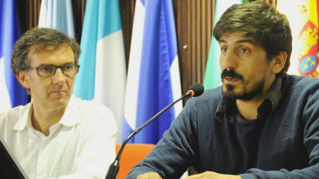 Juan José Calvo y Pablo Álvarez en conferencia de prensa.