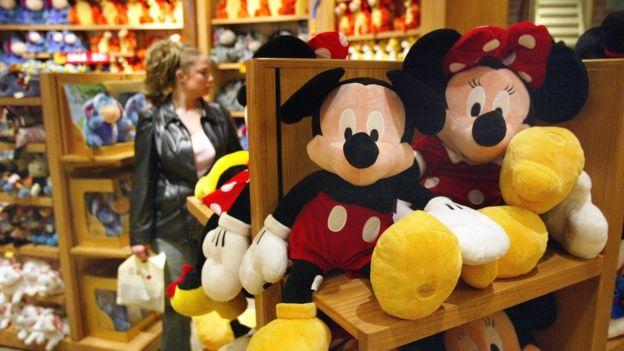 Mickey and Minnie Mouse toys