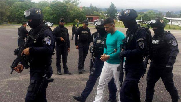 Un sospechoso de narcotráfico en Honduras.