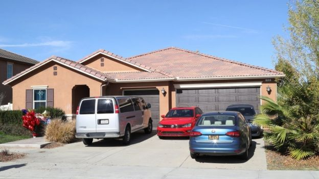 Casa de los Turpin en California.