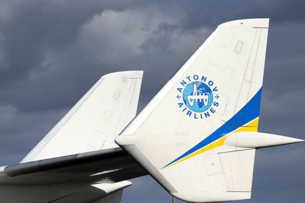 Twin tail of the An-225