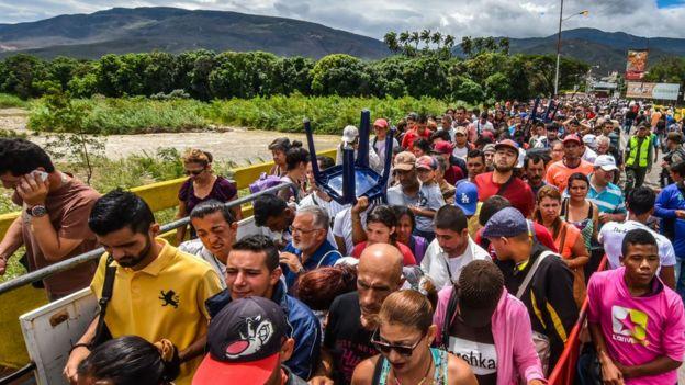 Frontera entre Venezuela y Colombia.