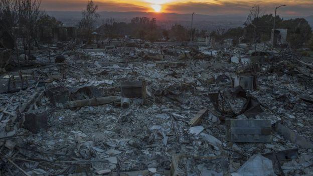 نتائج حرائق كاليفورنيا