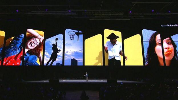 Presentation of the Samsung S9 in Barcelona.  (Photo: Samsung)