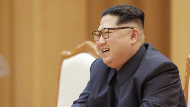 Kim Jong-un in Pyongyang, 16 April
