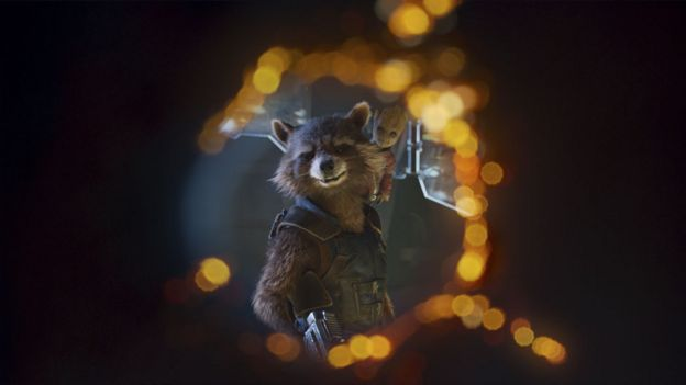 'Rocket Racoon' and 'Baby Groot' in Guardians of the Galaxy Vol. 2