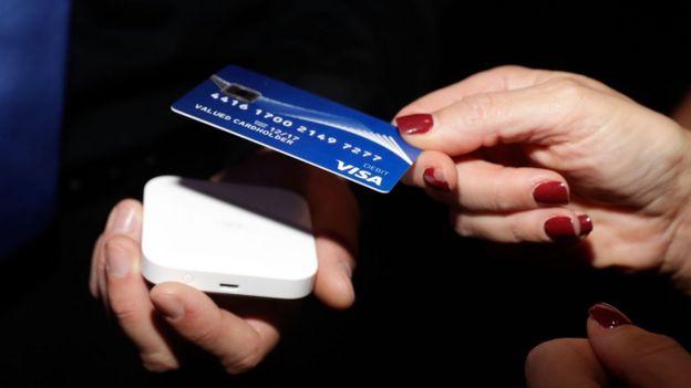 A cashless transaction