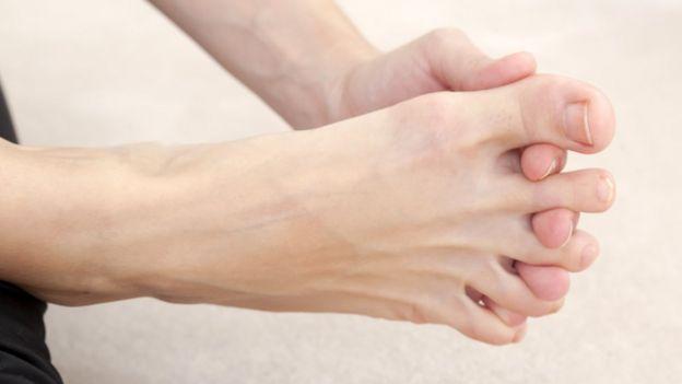 Antiginástica nos pés