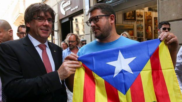 El presidente del gobierno catalán, Carles Puigdemont