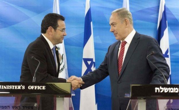 Morales y Netanyahu en una conferencia de prensa en 2016.