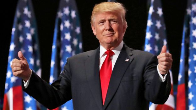 Donald Trump at the Republican National Convention in Ohio - 21 July 2016