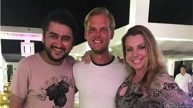 DJ Maitrai Joshi (left) and Avicii (centre) at the Muscat Hills Resort in Oman