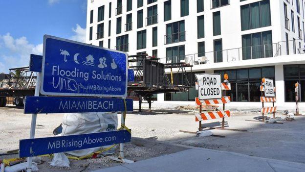 Una calle de Miami Beach