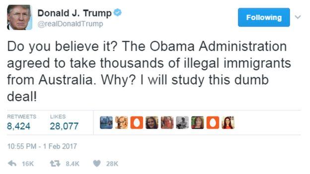 @realDonaldTrump tweets: