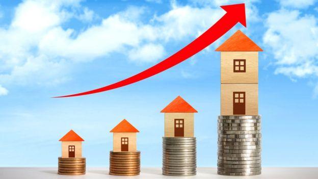 Suba de precios en casas.