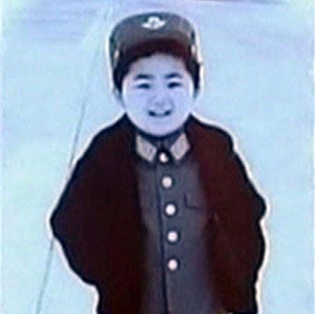 Kim Jong-un de pequeño.