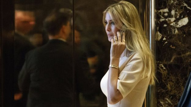 Ivanka Trump arrives at Trump Tower in New York