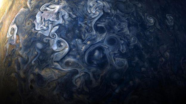 Jupiter.  Photo: NASA / JPL-Caltech / SwRI / MSSS / G.Eichstadt / J.Cowart.
