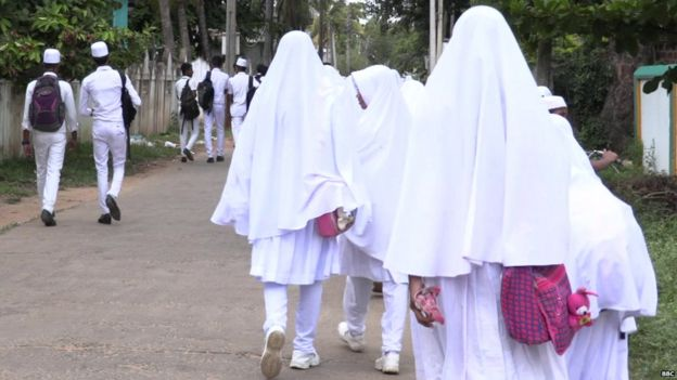 Muslim school children in Sri Lanka