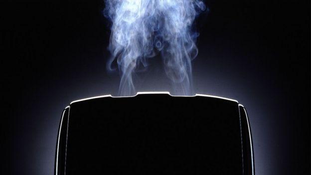 Smoking toaster image