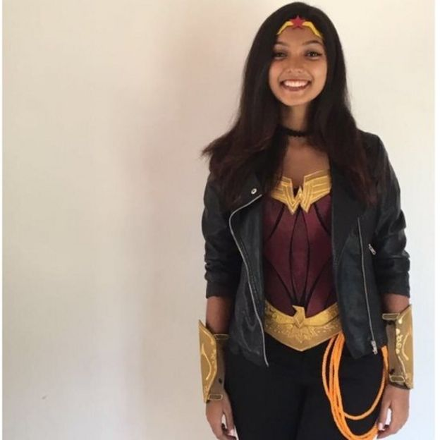 Seshani Cooray dressed as Wonder Woman