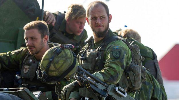 Soldados suecos en Gotland