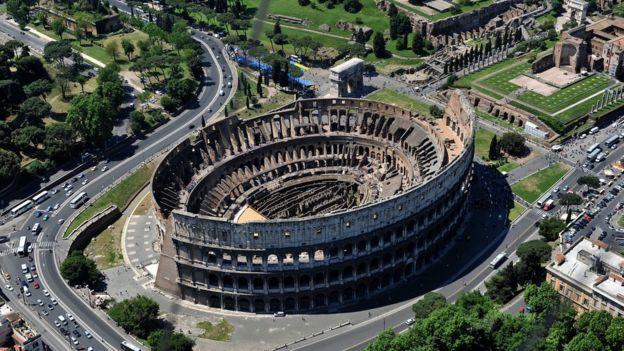 Vista aérea del Coliseo