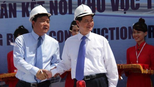 Hai ông Đinh La Thăng và Nguyễn Tấn Dũng