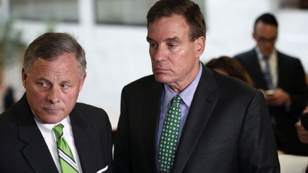 Senators Burr (L) and Warner say they will release more summons against fired national security advisor Michael Flynn