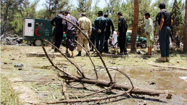 انفجار انتحاری در هلمند دهها کشته بجا گذاشت