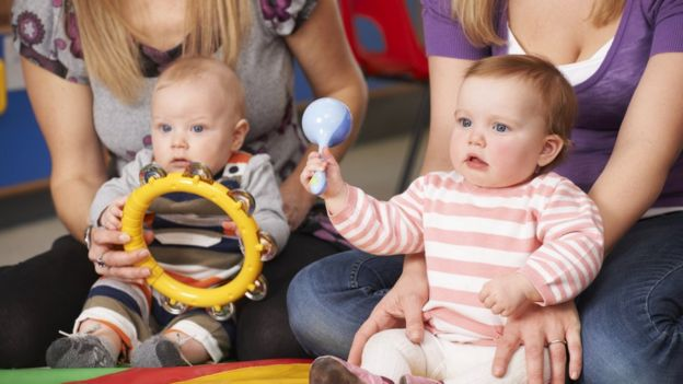 babies with musical instruments