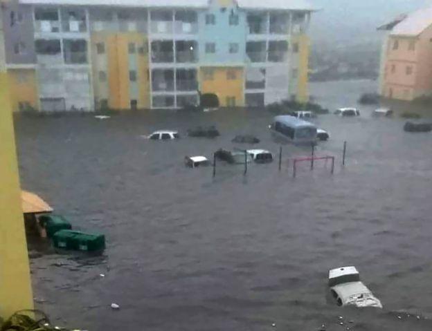 Flooding in Saint Martin, 6 September