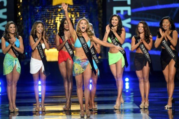 Miss Texas Margana Wood en el concuros Miss America, en Atlantic City, Nueva Jersey, el 10 de septiembre de 2017.