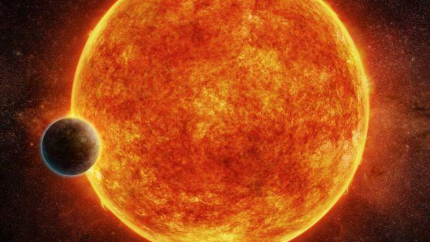 O planeta LHS 1140b, na órbita da estrela anã vermelha LHS 1140