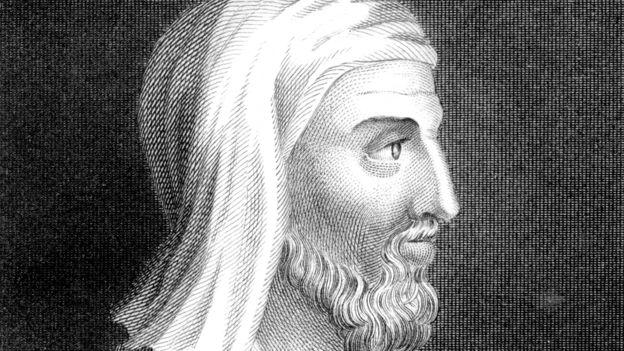 Dibujo que muestra el perfil de Plutarco